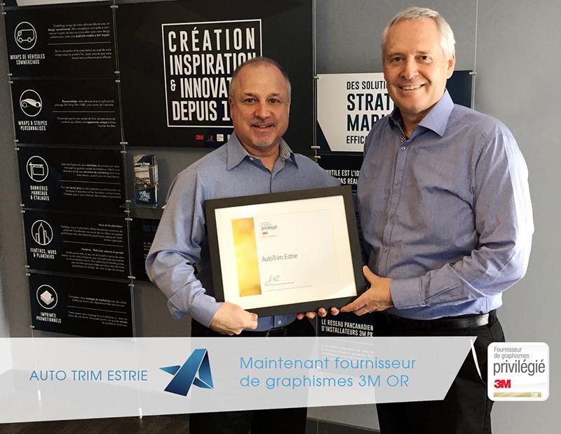 AutoTrim Estrie 3M Gold Certification