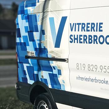 Lettrage du véhicule de Vitrerie Sherbrooke
