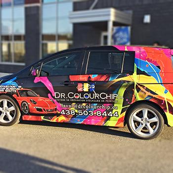 Wrap complet d'une voiture pour Dr ColourChip