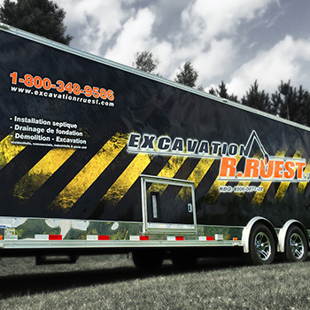 Excavation R. Ruest Trailer Wrap