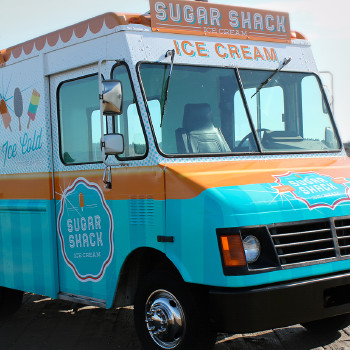 Sugar Shack Ice cream truck wrap