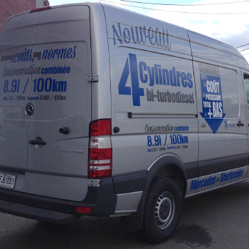 Mercedes Sherbrooke Vinyl decals on Sprinter