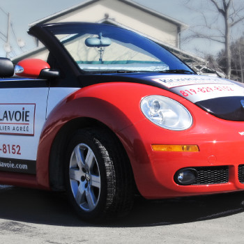 Richard Lavoie, Licensed Real Estate Agent Volkswagen Beetle partial wrap