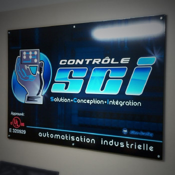 SCI Control Digital print on aluminum panel for conference room